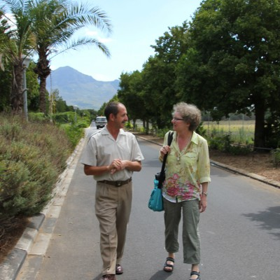 Dagmar Schmidt with Jaco de Roux, prison warden for 28 years