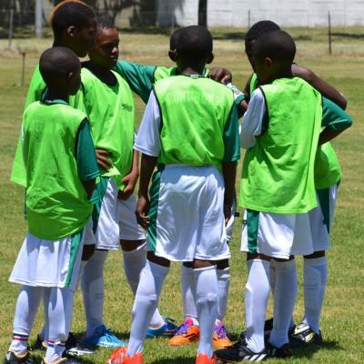 Mannschaftsbesprechung vor dem ersten Spiel